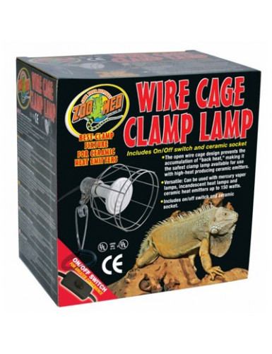 Wire Cage Clamp Lamp Zoo Med