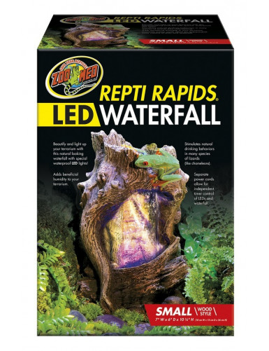 Repti Rapids LED Waterfall Wood Zoo Med