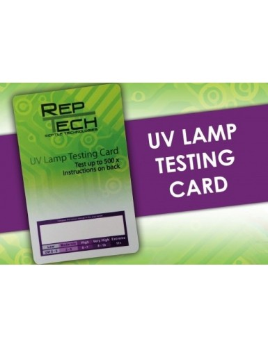 UV Lamp Testing Card Reptech